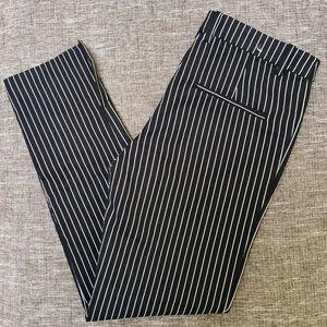 H&M Pin Stripe Pants - Black & White